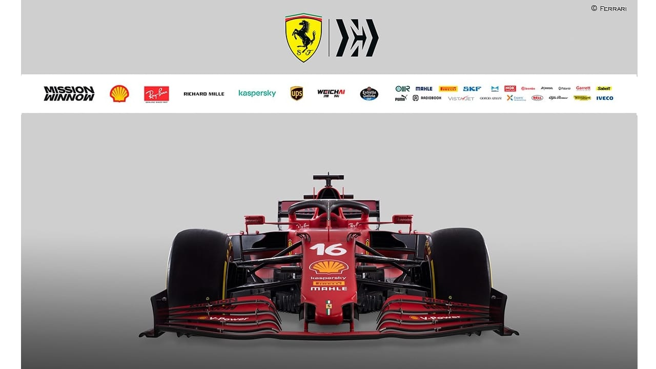 frontal del Ferrari SF21