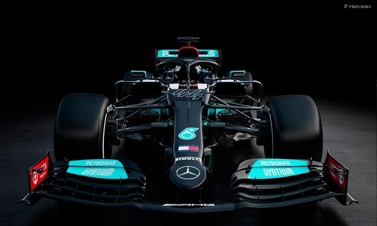 zona delantera del Mercedes W12