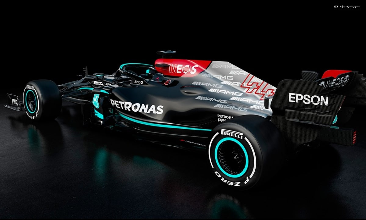 trasera Mercedes W12