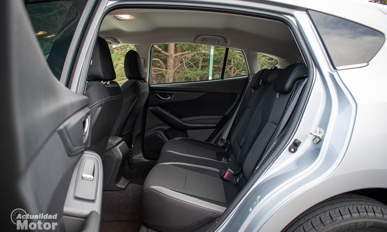 Prueba Subaru Impreza asientos traseros