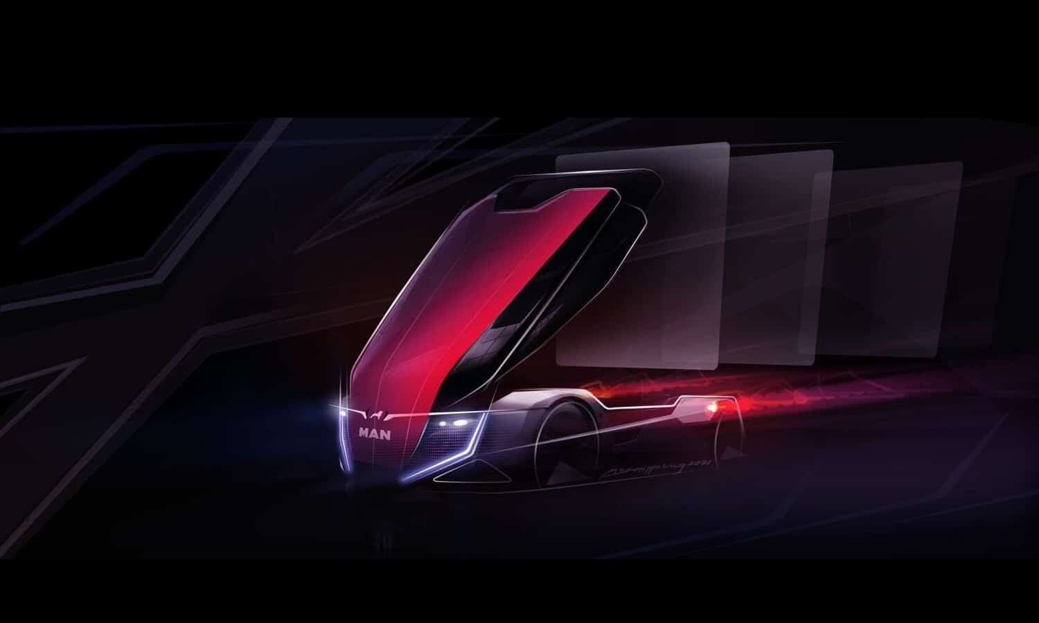 teaser image of the Project Trinity EV