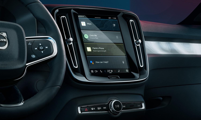 Volvo C40 Recharge pantalla central