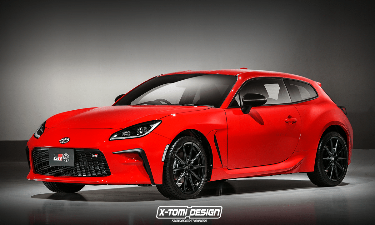 Toyota GR 86 Shooting Brake render by X-Tomi Design