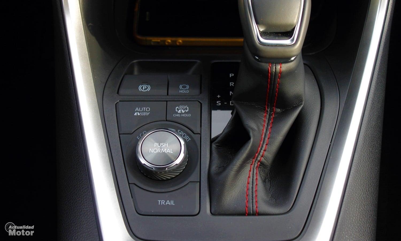 Selector de modos de conducción del Toyota RAV4 Plug-in Hybrid