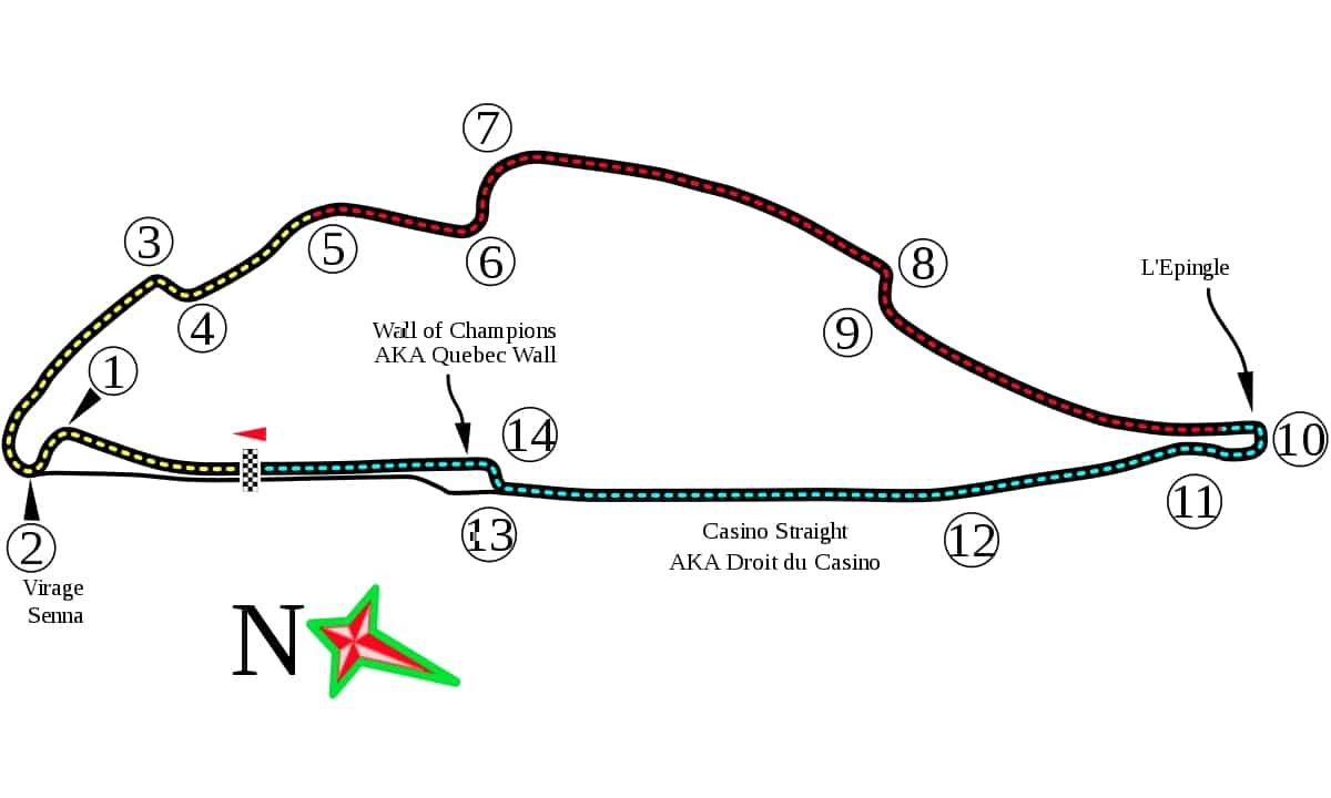 加拿大大奖赛赛道
