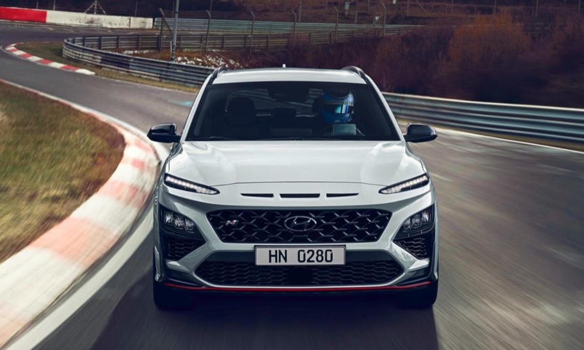 Frontal del Hyundai Kona N 2021
