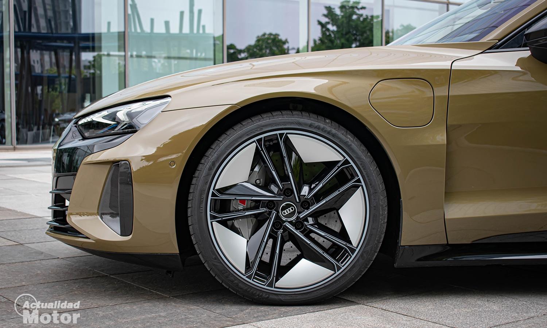 Prueba Audi RS e-tron GT llantas aerodinámicas