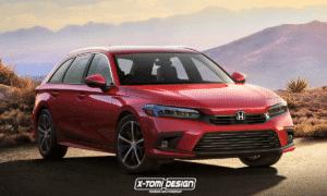 Honda Civic Tourer render by X-Tomi Design
