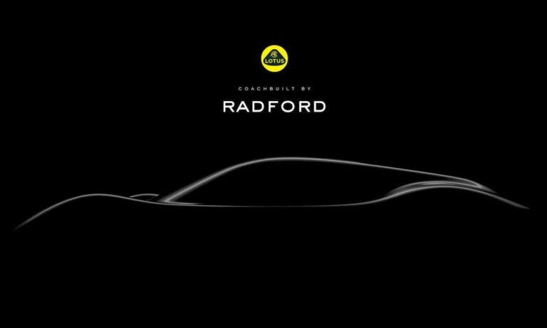 Radford Lotus based car teaser