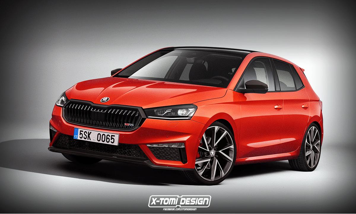Skoda Fabia RS render by X-Tomi Design