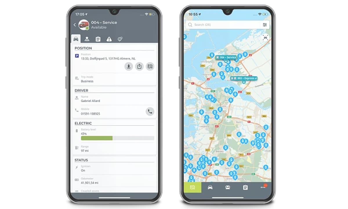 Control de flota de vehículos por GPS
