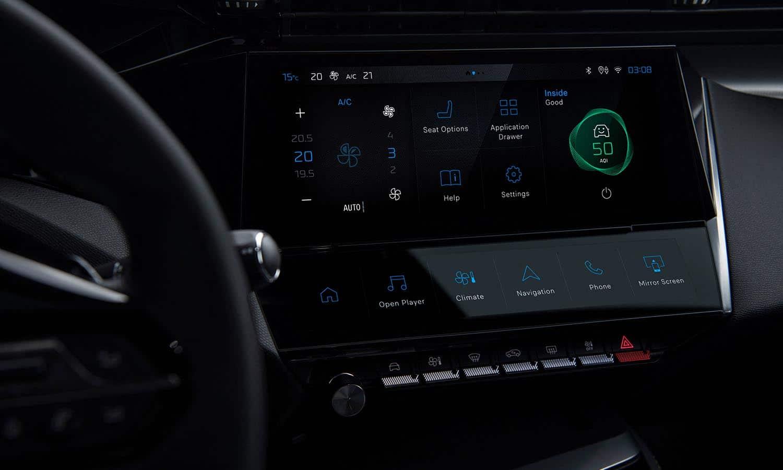 Peugeot 308 pantalla