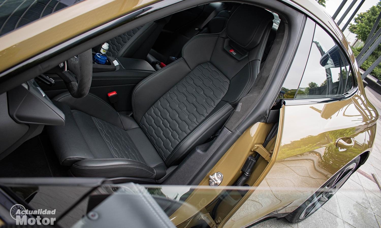 Prueba Audi RS e-tron GT asientos