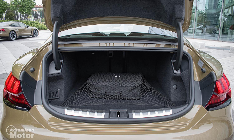 Prueba Audi RS e-tron GT maletero