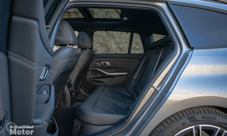 Prueba BMW 320d Touring plazas traseras