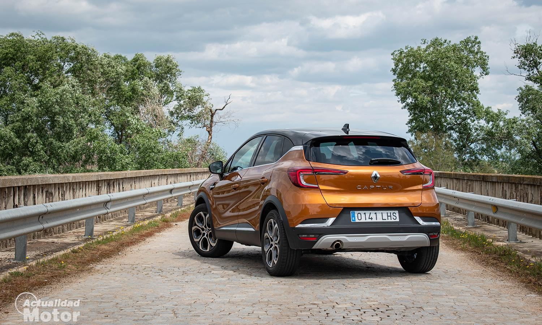 Prueba Renault Captur GLP perfil trasero
