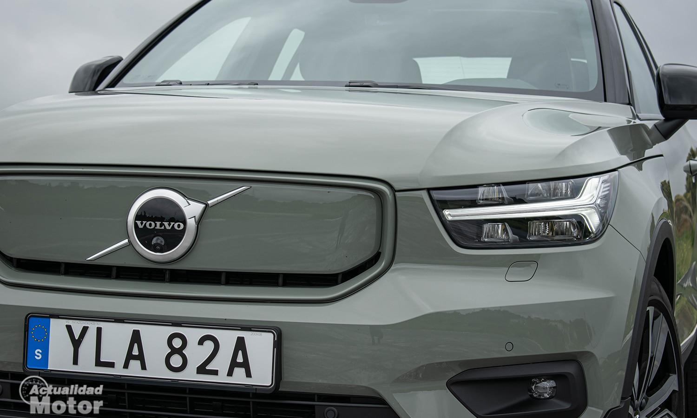 Prueba Volvo XC40 Eléctrico parrilla cerrada