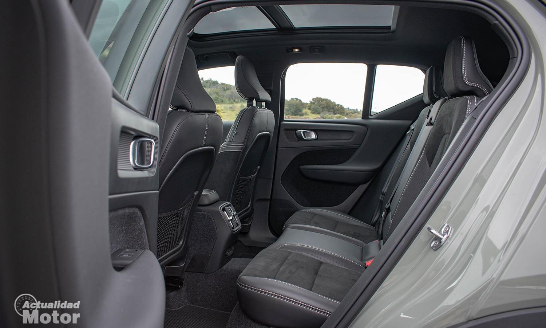 Prueba Volvo XC40 Eléctrico plazas traseras