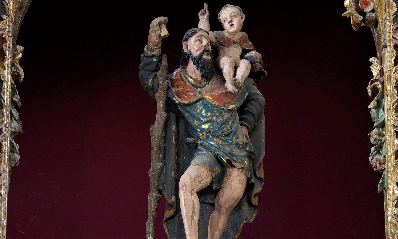 Representación de San Cristóbal de la parroquia de Boecillo, Valladolid