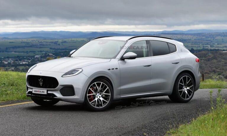 Maserati Grecale front render by Kolesa