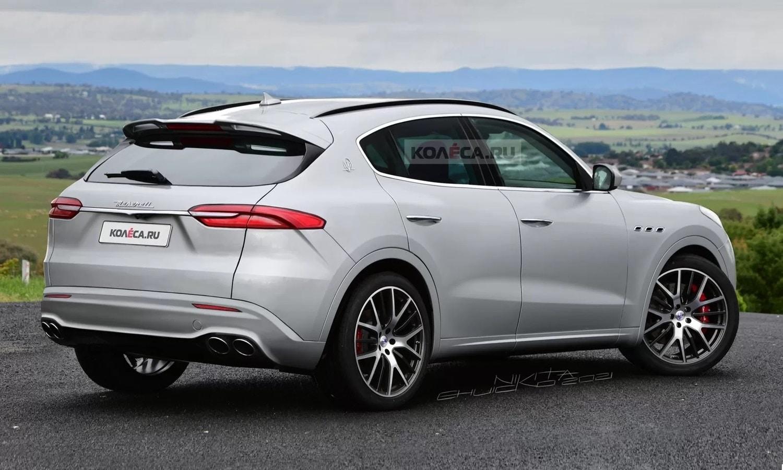 Maserati Grecale rear render by Kolesa