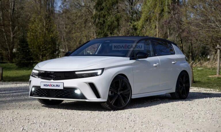 New Opel Astra front render by Kolesa