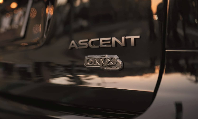 Subaru Ascent Onyx Edition rear teaser