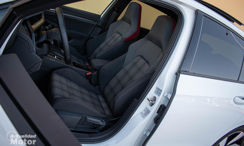 Prueba Volkswagen Golf GTI asientos
