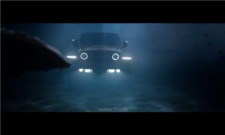 Jeep Wrangler under the sea