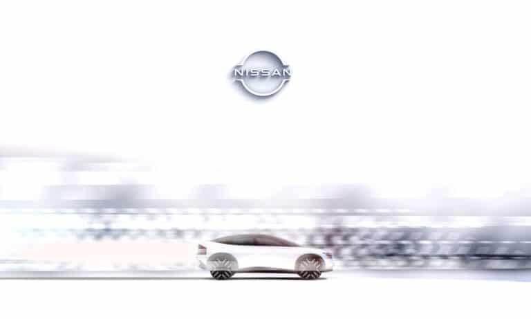 New Nissan EV SUV side Teaser