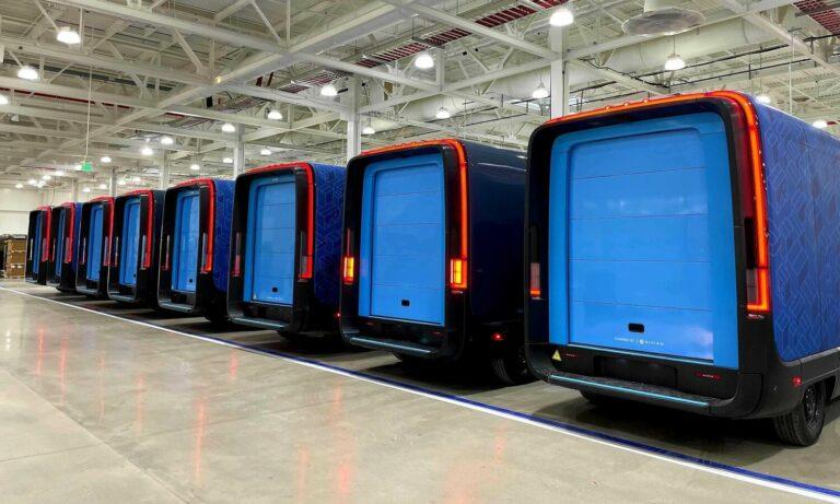 Rivian Amazon electric transport vans