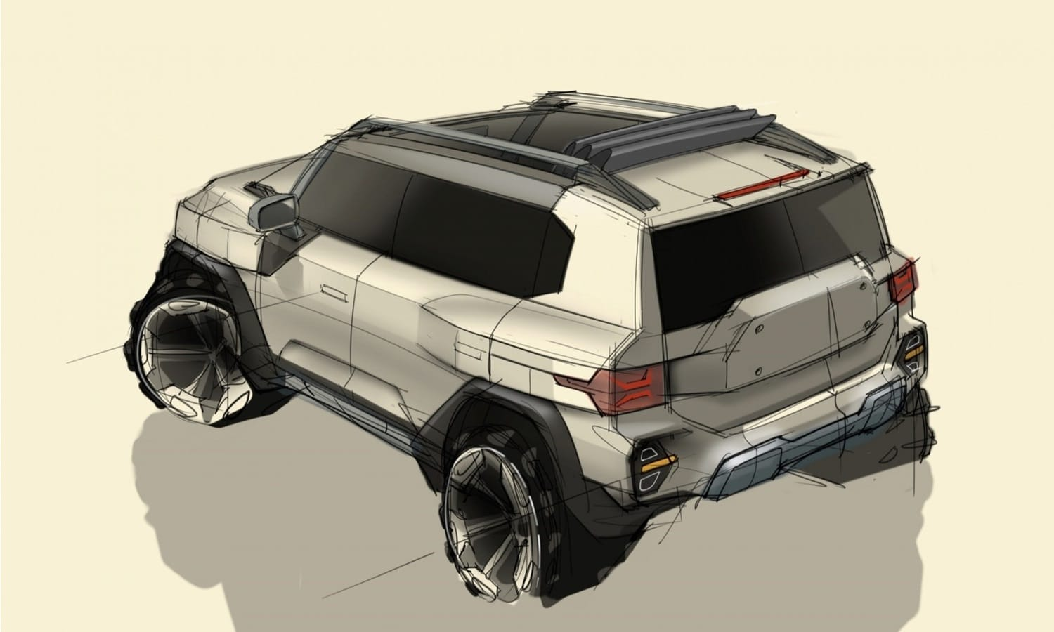 SsangYong X200 Prototype teaser - SsangYong Motors previews the design of next generation SUV