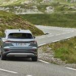 Prueba Audi Q4 e-tron dinámica trasera
