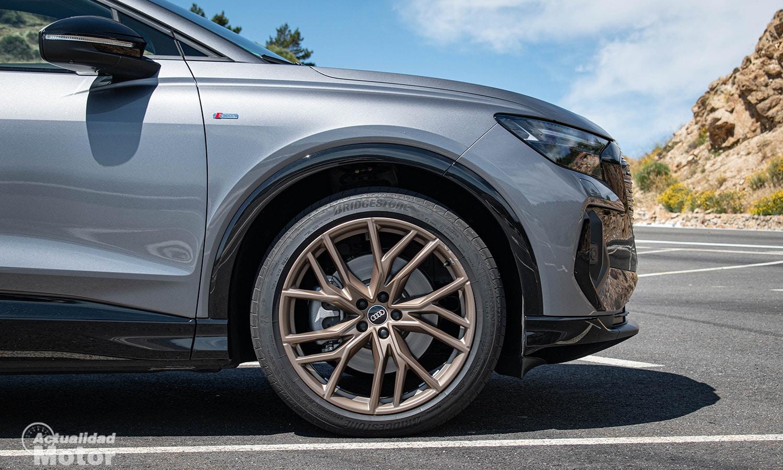 Prueba Audi Q4 e-tron llantas 21 pulgadas
