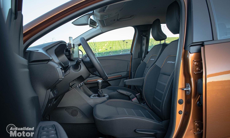 Prueba Dacia Sandero Stepway asientos delanteros