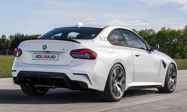 BMW M2 rear render by Kolesa