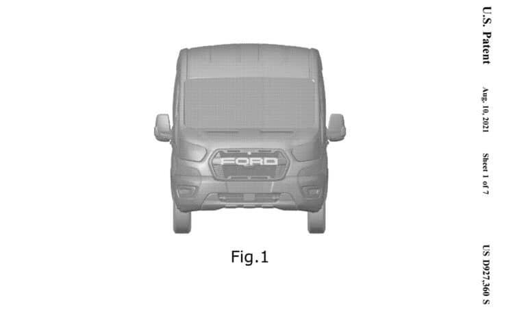 Ford Transit Trail patent of USPTO 1