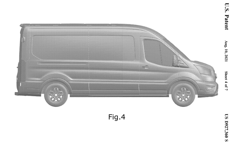 Ford Transit Trail patent of USPTO