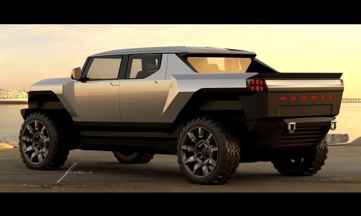 GMC Hummer EV Pick Up rear render