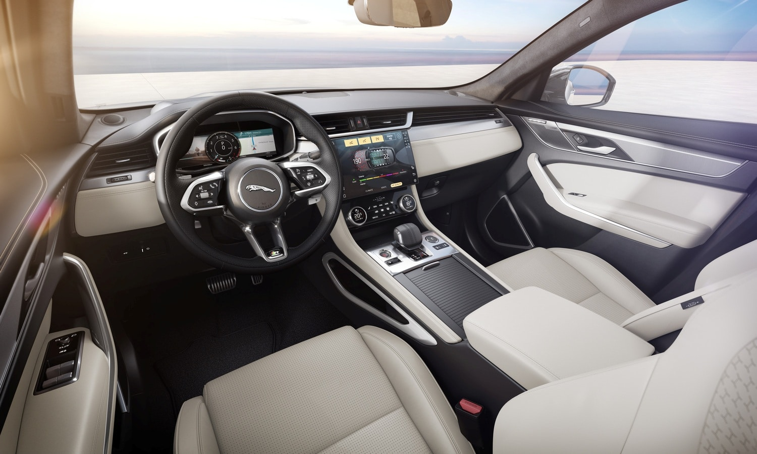 Jaguar F-Pace R-Dynamic HSE - Hakuba Silver with Light Oyster Interior