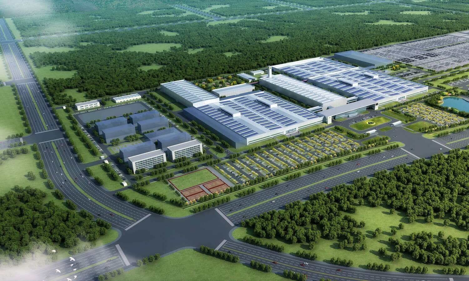 Lotus Technology manufacturing facility architectural