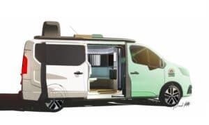 Renault Trafic Hippie Caviar Hotel Concept