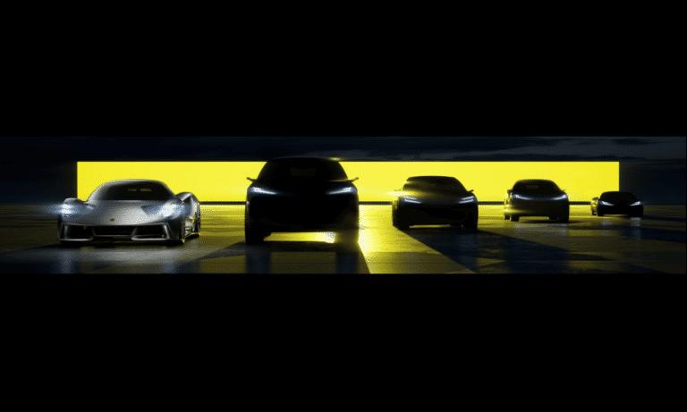 The Lotus EV range