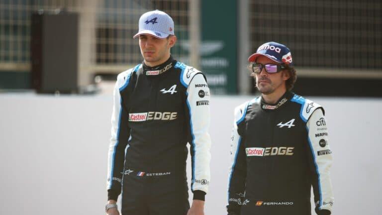 Esteban Ocon y Fernando Alonso Alpine