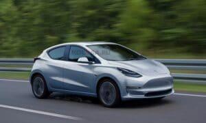 Tesla Model 2 render by Kolesa
