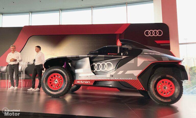 Carlos Sainz presentación Audi RS e-tron Dakar 2022