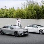 Mercedes EQE carga