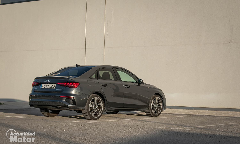 Prueba Audi A3 Sedán perfil trasero