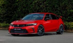 Honda Civic Type R render by Kolesa front