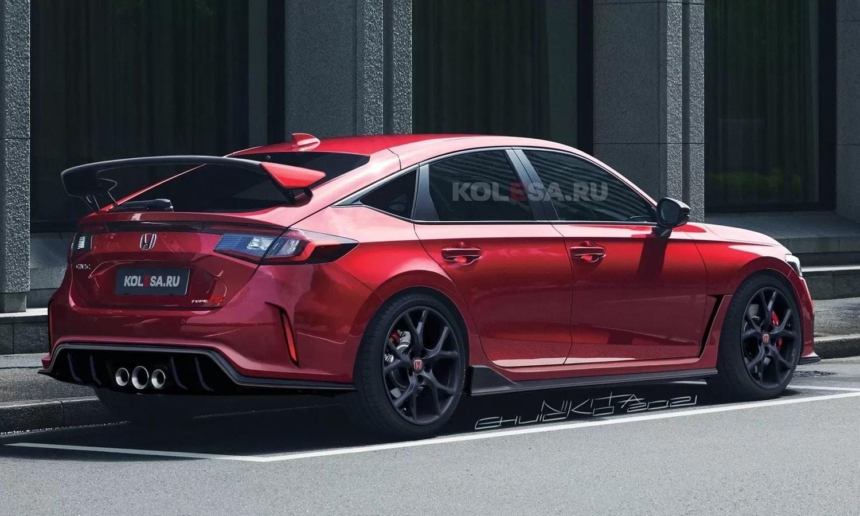 Honda Civic Type R render by Kolesa rear
